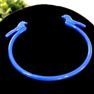 J. CREW blue bird open bracelet bangle